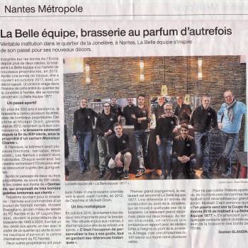 PARUTION DANS OUEST FRANCE